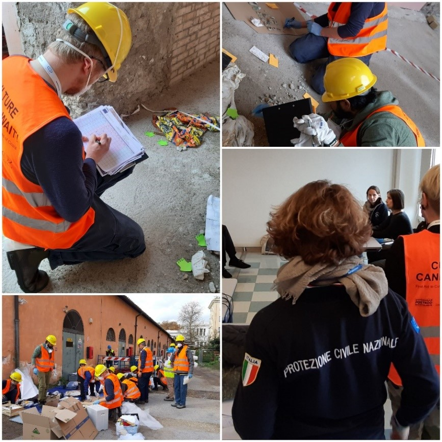 The Italian National Civil Protection Service cooperates with ICCROM within the International Training on Emergency Protection for Cultural Heritage